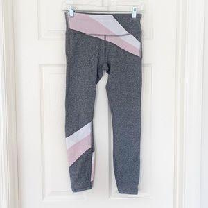 3 for $30 GapFit Gray Pink Colorblock Crop Legging